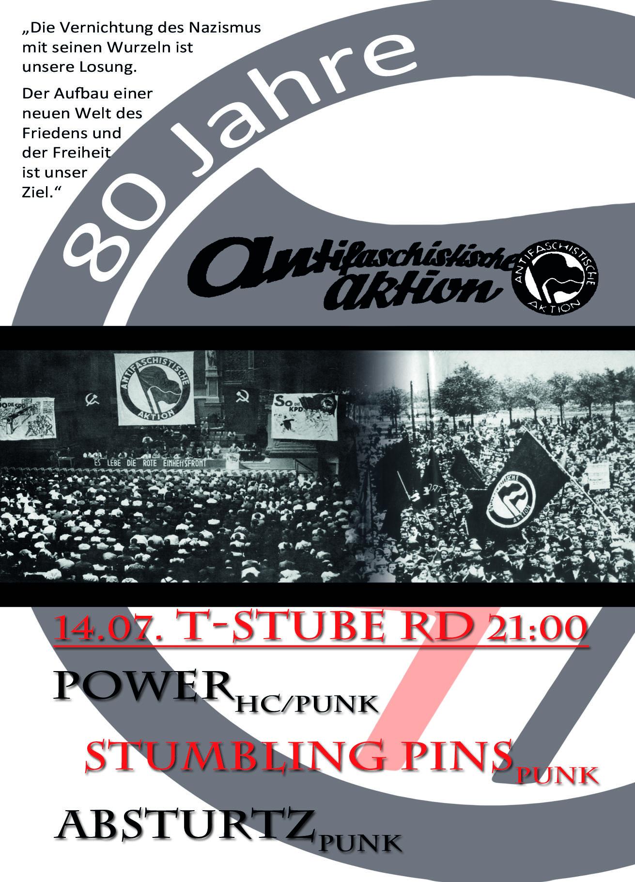 Flyer 80 Jahre Antifa